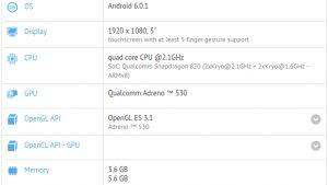 OnePlus 3 visto en GFXBench con Snapdragon 820 SoC y 6 GB de RAM
