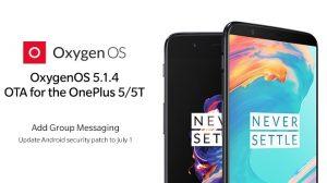 La actualización OxygenOS 5.1.4 trae el parche de seguridad de julio y la optimización de suspensión en espera a OnePlus 5 y 5T