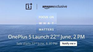 OnePlus 5 con Snapdragon 835 SoC y 8 GB de RAM se venderá exclusivamente a través de Amazon en India a partir del 22 de junio