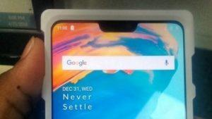 La supuesta unidad de trabajo de OnePlus 6 se filtra en línea mostrando la muesca con orgullo