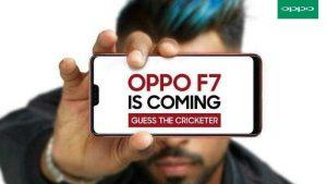 OPPO F7 con muesca similar a iPhone X que se lanzará en India el 26 de marzo