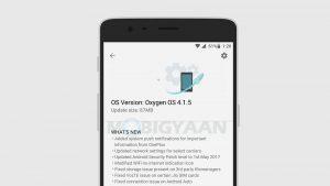 Actualización de OxygenOS 4.1.5 que se implementa en OnePlus 3 y 3T