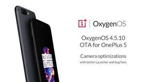 Actualización de OyxgenOS 4.5.10 que se implementa en OnePlus 5 con mejoras en la cámara y más