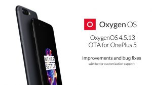 Actualización de OxygenOS 4.5.13 que se implementa en OnePlus 5
