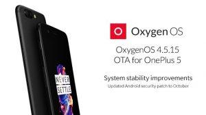 OnePlus 5 recibe la actualización OxygenOS 4.5.15 con correcciones de errores y parche de seguridad actualizado