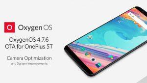 OnePlus 5T recibe la actualización OxygenOS 4.7.6 con optimizaciones de cámara y parche de seguridad actualizado