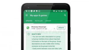 Google Play Store comienza a mostrar el registro de cambios de la aplicación en la pantalla de actualización