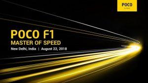 El POCO F1 de Xiaomi se lanzará en India el 22 de agosto, aquí está todo lo que sabemos al respecto