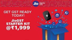 Reliance Jio ofrece un kit de inicio JioGST por ₹ 1999 con dispositivo JioFi y 24 GB de datos durante un año