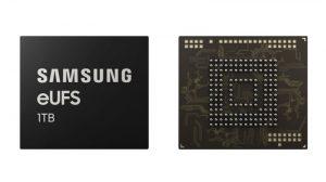 Samsung inicia la producción en masa del primer almacenamiento flash eUFS 2.1 de 1 Terabyte en la industria