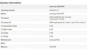 Samsung Galaxy A8 (2016) visto en Geekbench con Exynos 7420 SoC y 3 GB de RAM
