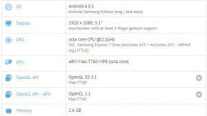 Samsung Galaxy A8 (2016) aparece en GFXBench con Exynos 7420 SoC y 3 GB de RAM