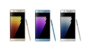 Las imágenes filtradas muestran el Galaxy Note7 en color dorado, azul y plateado desde diferentes lados