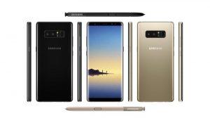 La imagen de prensa filtrada del Samsung Galaxy Note8 muestra la configuración de la cámara dual en la parte posterior