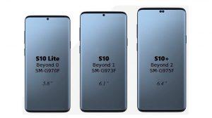 Los renderizados de la línea Galaxy S10 se filtran que muestran una posición diferente de las cámaras frontales de lo que se esperaba anteriormente
