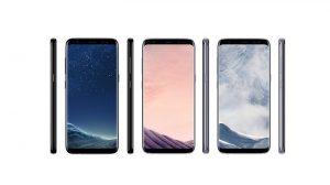 Pulse renders de Samsung Galaxy S8 y S8 + filtrados en los colores Black Sky, Orchid Grey y Arctic Silver