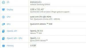 El supuesto teléfono inteligente de la serie Samsung Galaxy On aparece en GFXBench con Snapdragon 425 SoC y 2 GB de RAM