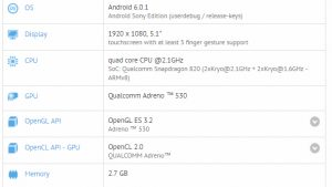 El teléfono inteligente Sony Xperia desconocido aparece en GFXBench con Snapdragon 820 SoC y 3 GB de RAM