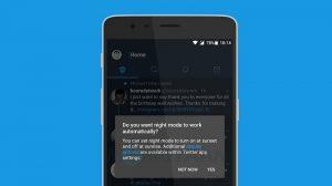 Twitter comienza a implementar el modo nocturno automático para todos los usuarios de su aplicación de Android