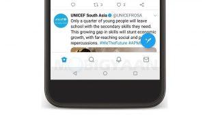 Twitter actualiza su aplicación de Android con una barra de navegación inferior