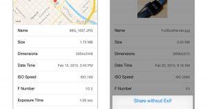 Cómo ver, eliminar datos de fotos Exif en su dispositivo iOS