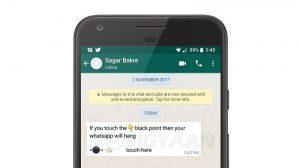Este mensaje con Black Dot haciendo rondas en Internet está bloqueando WhatsApp
