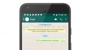 Los usuarios de Android ahora pueden finalmente eliminar los mensajes de WhatsApp para todos los que tengan más de una hora