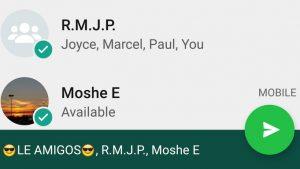 WhatsApp para Android ahora le permite reenviar un mensaje a múltiples destinatarios y chats frecuentes