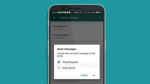 Los administradores de grupos de WhatsApp ahora pueden evitar que los miembros envíen mensajes en un grupo