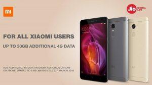 Reliance Jio ofrece hasta 30 GB de datos 4G adicionales en ciertos teléfonos inteligentes Xiaomi