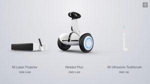 Xiaomi anuncia Mi Laser Projector, Ninebot Plus y Mi Ultrasonic Toothbrush como parte de Mi Ecosystem