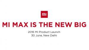 Xiaomi Mi Max se lanzará el 30 de junio en India