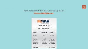 Xiaomi Redmi 4 y Redmi Note 4 ahora disponibles para su compra en las tiendas Big Bazaar en India