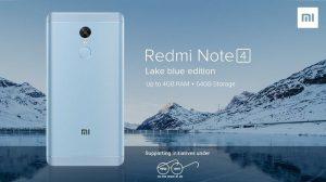 Xiaomi Redmi Note 4 Lake Blue Edition se lanzó en India para apoyar a Swachh Bharat Abhiyan