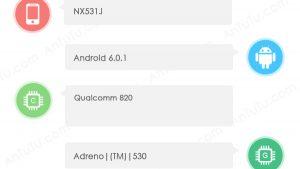 ZTE Nubia Z11 visto en AnTuTu con Snapdragon 820 SoC y 4 GB de RAM