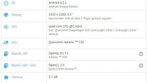 ZTE Nubia Z11 visto en GFXBench con Snapdragon 820 SoC, 4 GB de RAM y pantalla FHD de 5.5 pulgadas